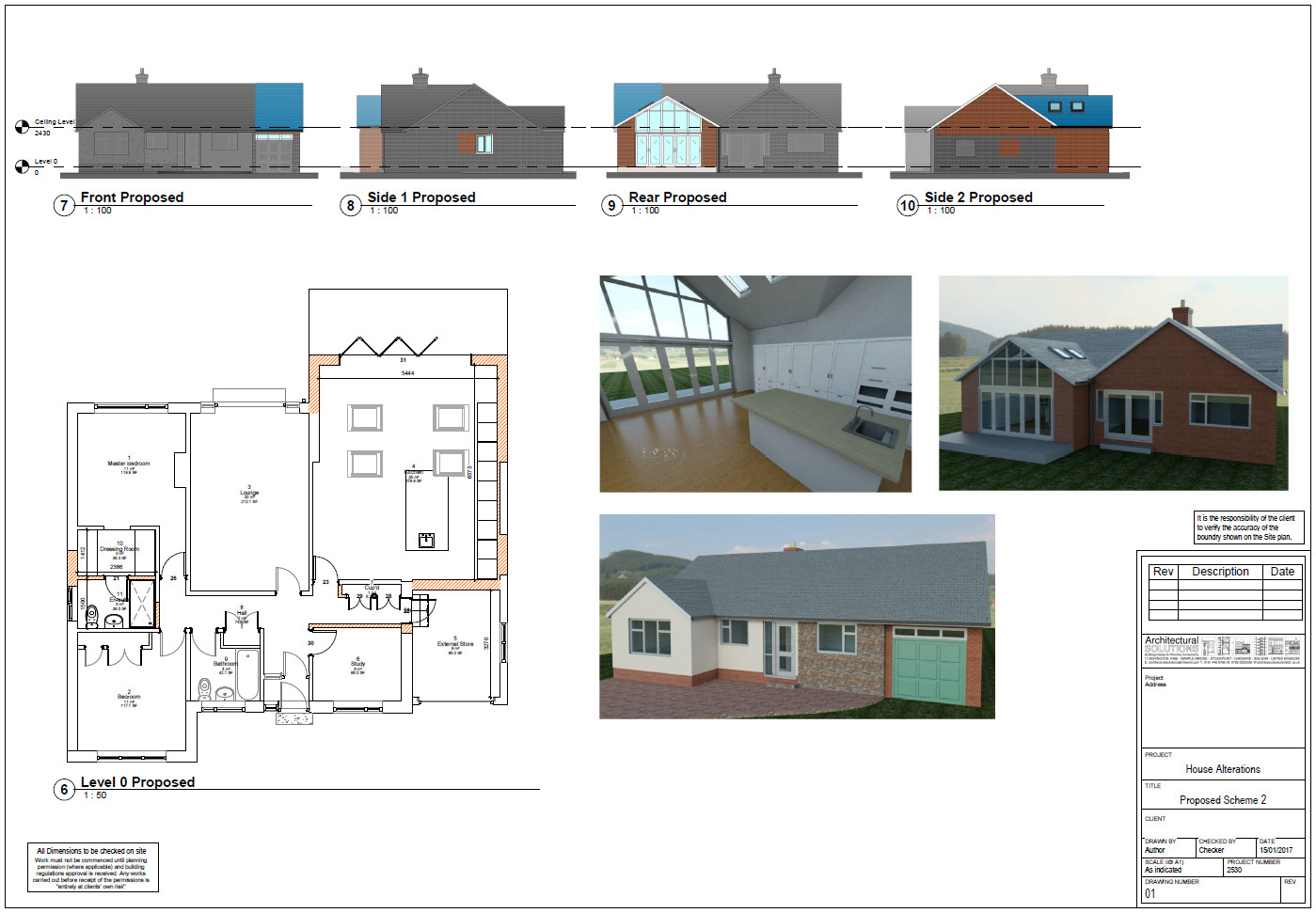Extension Plans | 3D Visualisations | Marple, Stockport, Manchester