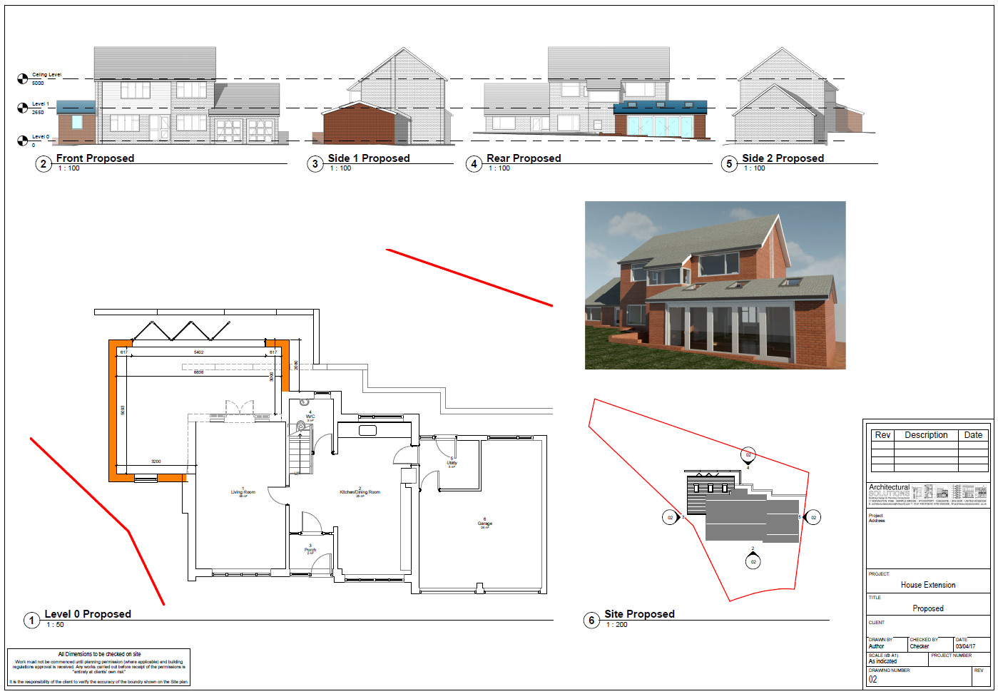 Extension plans 3d visualisations marple stockport for Room extension plans